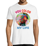 T-shirt Cheval Color my Life Homme
