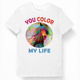 T-shirt Cheval Color my Life