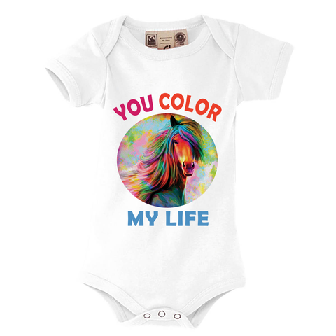 Body Bébé<br> Cheval Multicolor