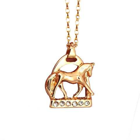 Collier Cheval <br> Etrier scintillant