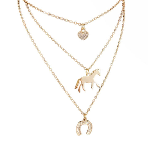 Collier Cheval Triple OR