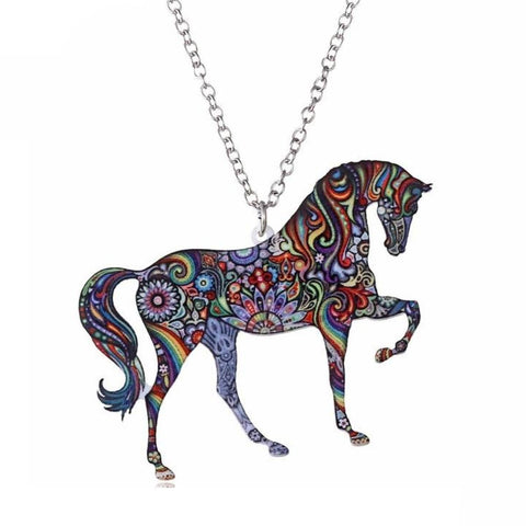 Collier Cheval <br>Design Multicolore