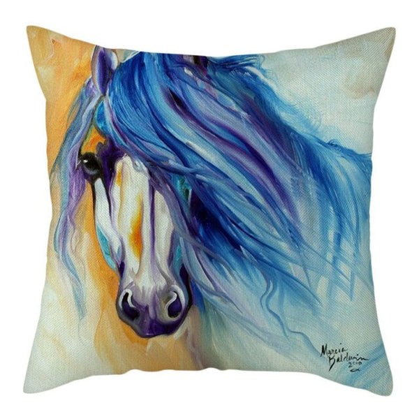COUSSIN CHEVAL <br> CRINIERE BLEUE