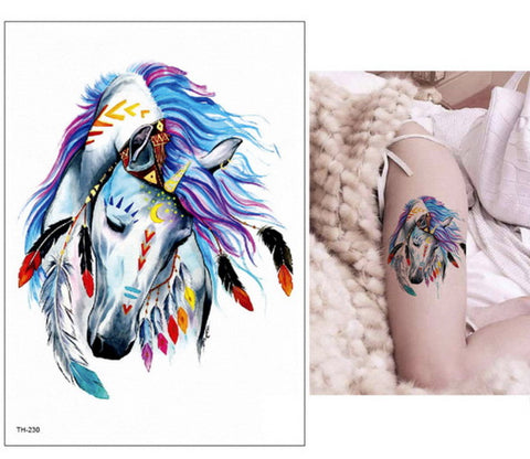 Tatouage cheval <br> ART Indien grand