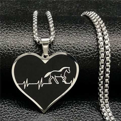 Collier Cheval <br> Coeur
