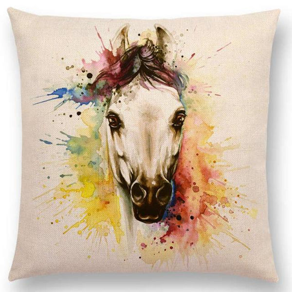 COUSSIN CHEVAL <br> TETE BLANCHE