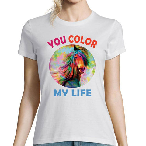 T-shirt Cheval Color my Life | Planète Cheval
