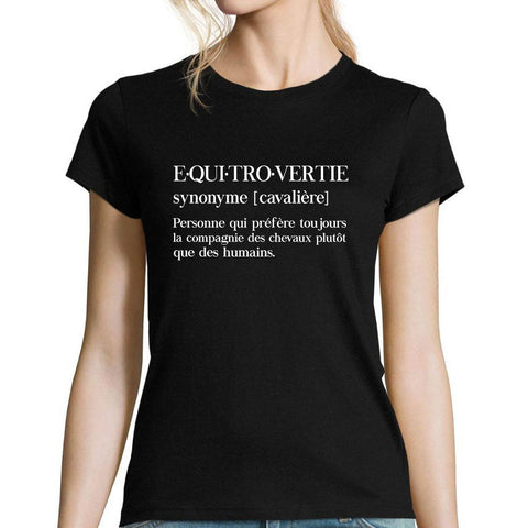 T-shirt Cheval Equitrovertie | Planète Cheval