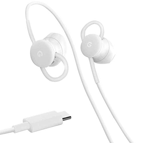 Google USB Type C Wired Digital Earbud Headset with Assistant and In-Ear Translate for Pixel Phones - White, S GA00485-US, G019BA88A, 73H00641-00M