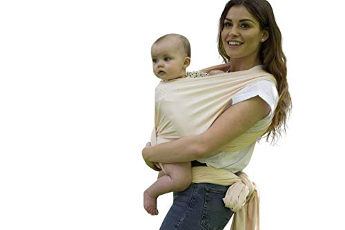 Organic Baby Carrying Wrap Carrier Stretchy Baby Wraps - Hands Free Babies Carrier Wraps Baby Sling | Baby Wrap Carrier | Organic Cotton and Bamboo - Fern Print