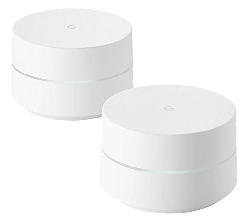 Google Wi-Fi Whole Home System, White, Pack of 2