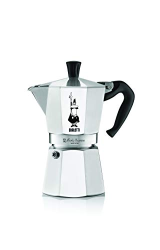 "Bialetti Moka Express Espresso Maker, 4 Cup & KitchenCraft Galvanised Iron Gas Ring Reducer, 12 cm (4.5"")"