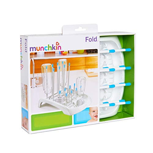 Munchkin Deluxe Bottle Drying Rack Ideal for Bottles, Teats, Cups, Pump Parts and Accessories