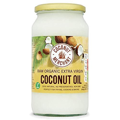 Coconut Merchant Organic Coconut Oil 1L | Extra Virgin, Raw, Cold Pressed, Unrefined | Ethically Sourced, Vegan, Ketogenic and 100% Natural | Coconut Merchant Organic Coconut Oil 500mL | Extra Virgin, Raw, Cold Pressed, Unrefined | Ethically Sourced, Vega