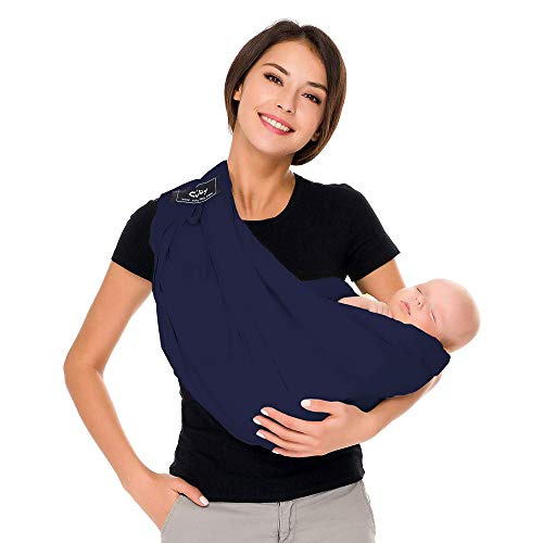 Cuby Baby Slings Carrier for Newborns and Breastfeeding (Blue)