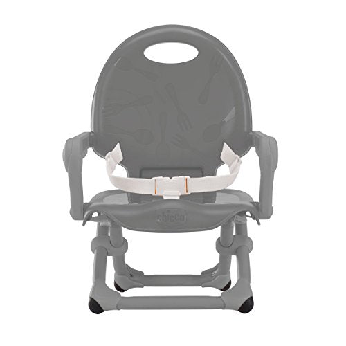 Chicco Pocket Snack Booster Seat - Dark Grey, Height Adjustable, Lightweight and Compactable, Travel Friendly