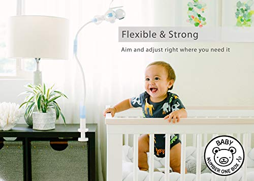 FlexxiCam | Universal Baby Camera Holder | Strong Flexible Baby Monitor Mount Shelf With Strap | No Drilling | A Safer Monitor Stand for Your Baby