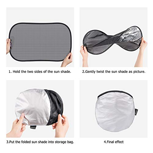 ADORIC Car Sun Shades For Baby, Car Window Sun Shades For Kids 3 Pack, 56 * 36 CM Suitable For Most Vehicles