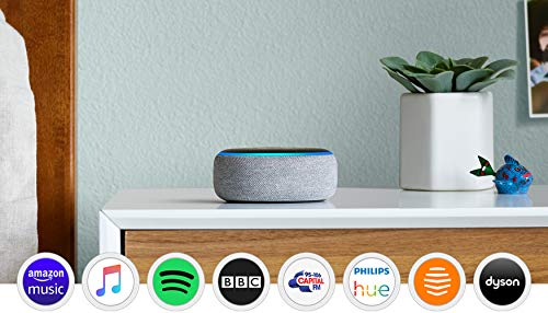 Echo Dot (3rd Gen), Heather Grey Fabric + Tapo P100 Smart Plug, Works with Alexa