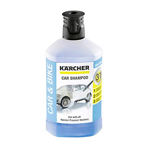 Kärcher 1 L, 3-in-1 Car Shampoo Plug and Clean, Pressure Washer Detergent