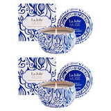La Jolíe Muse Citronella Candles, Scented Candle Set of 2 Soy Wax for Outdoor and Indoor Travel Tin 45 * 2 Hours