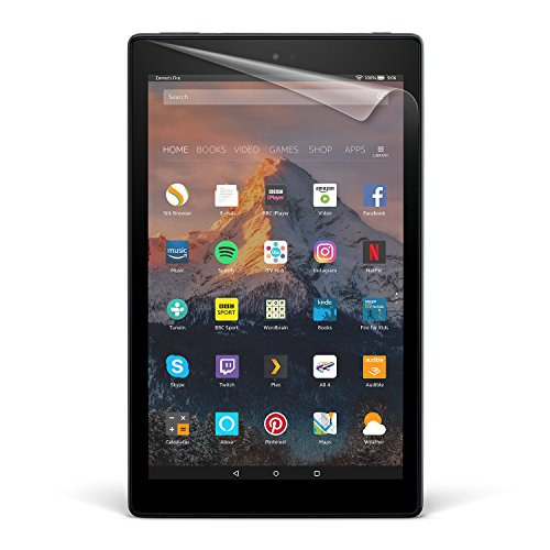 "NuPro Fire HD 10 Screen Protector Kit (10"" Tablet), 2-Pack, Clear