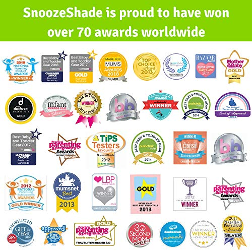 SnoozeShade Plus Deluxe (6m+) – Buggy sun shade and baby sleep aid - Universal fit and blocks up to 97.5% UV