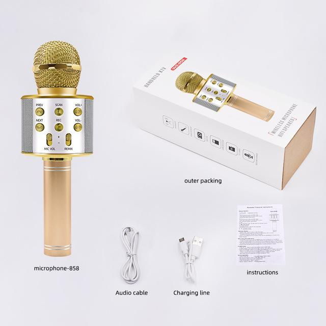 Bluetooth Karaoke Microphone Wireless Microphone Speaker Handheld - Smoothpushstore