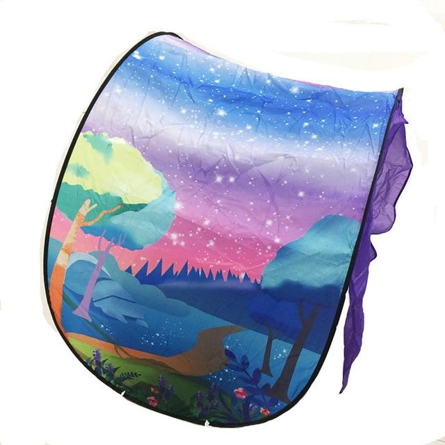 Fashion Printing Kids Dream Tents Baby Pop Up Bed Tent Fantasy Cartoon Snowy Foldable Playhouse Comforting Sleeping mosquito net - Smoothpushstore