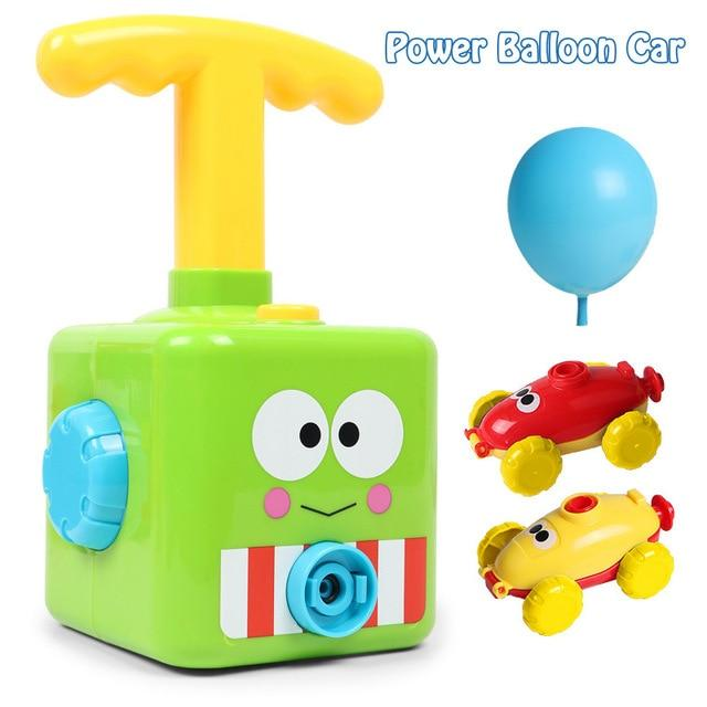 NEW Power Balloon Launch Tower Toy Puzzle Fun Education Inertia Air Power Balloon Car Science Experimen Toy for Children Gift - Smoothpushstore