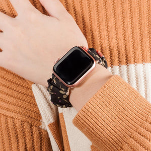 Apple Watch Scrunchies 42mm 40mm Women Rose Gold Elastic Strap  5 4 3 2 1 - Smoothpushstore