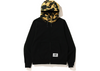 Bape A Bathing Ape Embroidery Wide Zip Hoodie Black/Yellow