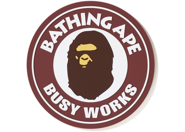 BAPE Busy Works Rubber Coaster Burgundy