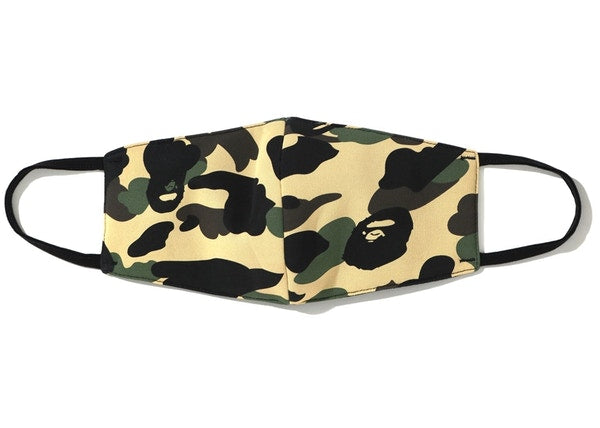 BAPE Full 1st Camo Mask Yellow