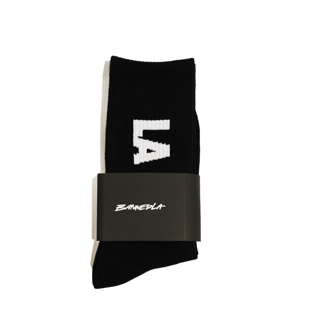 BannedLA Block Socks Black