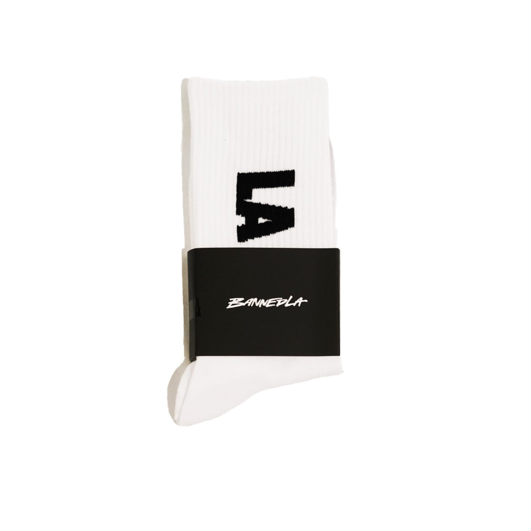 BannedLA Block Socks White