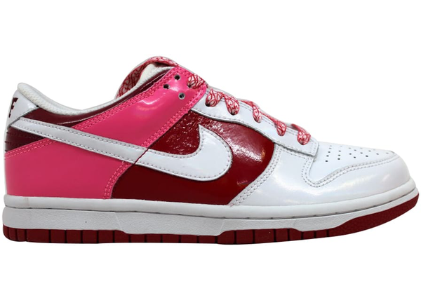 WMNS Nike Dunk Low White Varsity Team Red