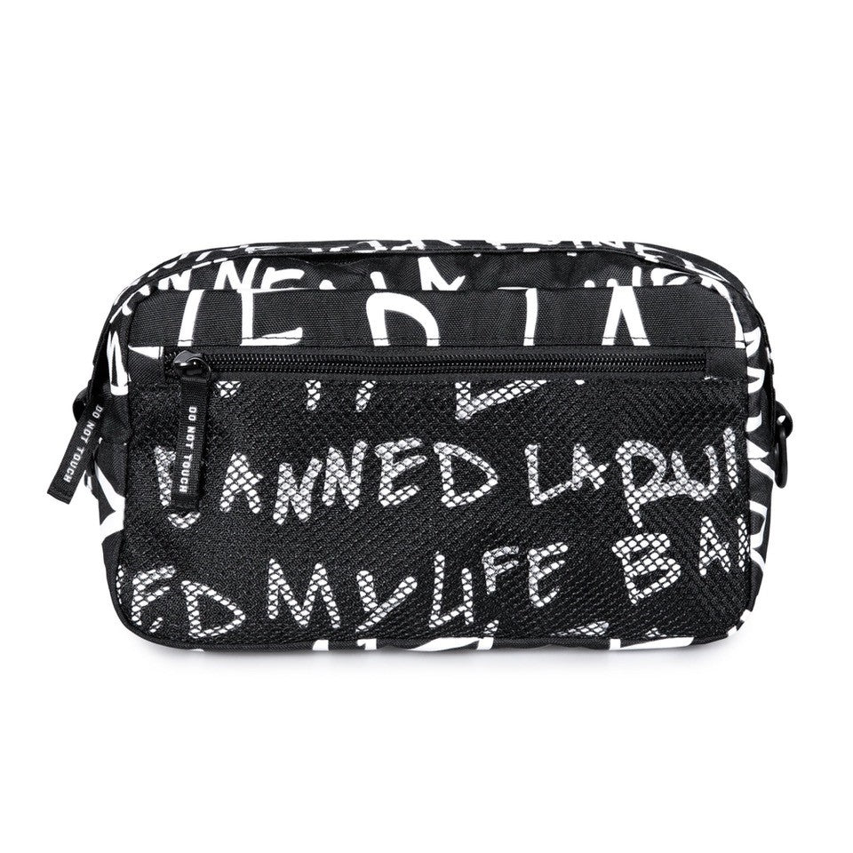 BannedLA Allover Script Shoulder Bag