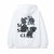 Anti Social Social Club Bat Emoji Hoodie White