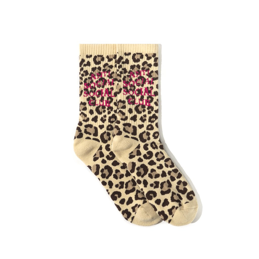 Anti Social Social Club Bondi Beach Socks Cheetah