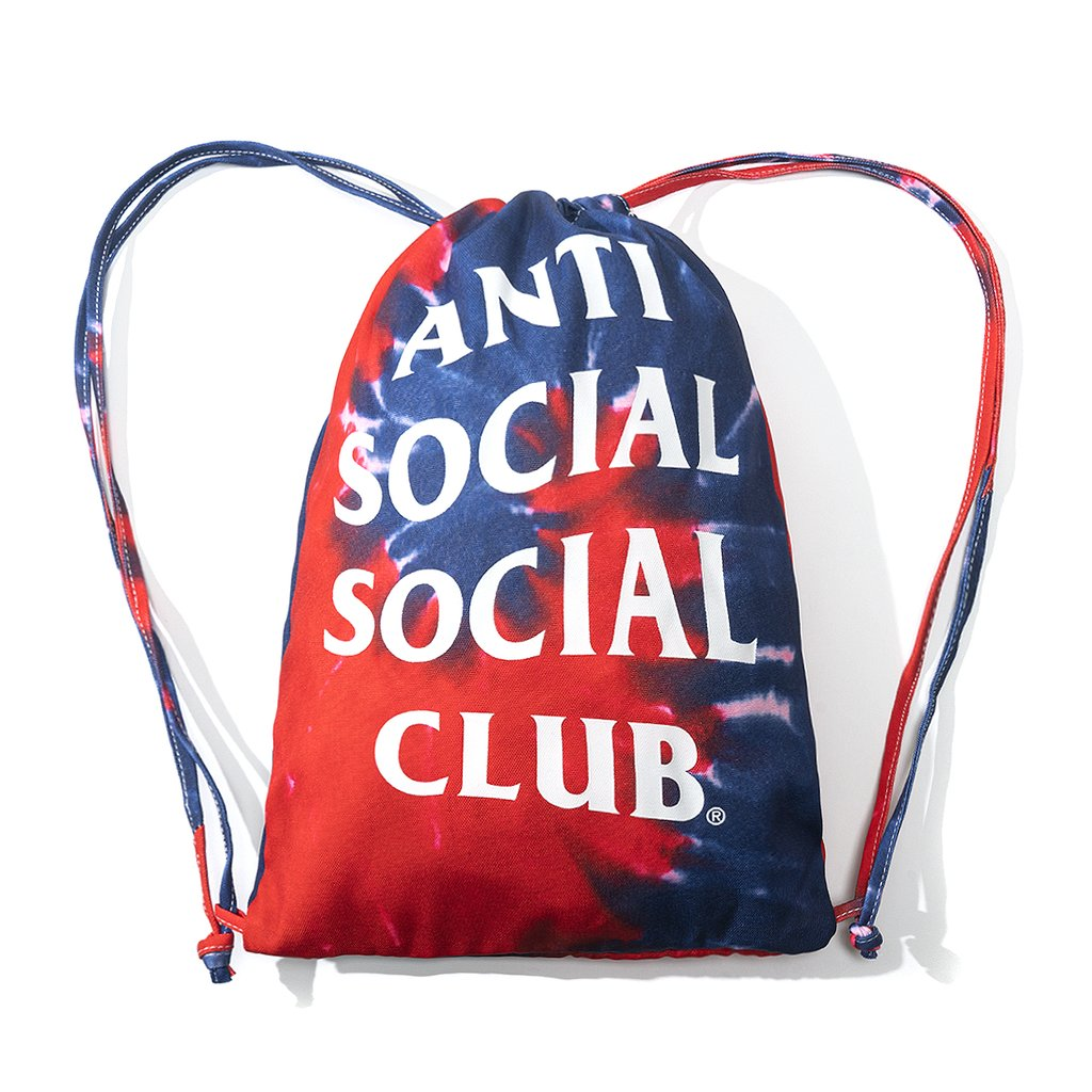 Anti Social Social Club Estilo Hippie Tie Dye Blue Bag