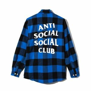 Anti Social Social Club Flannel Blue