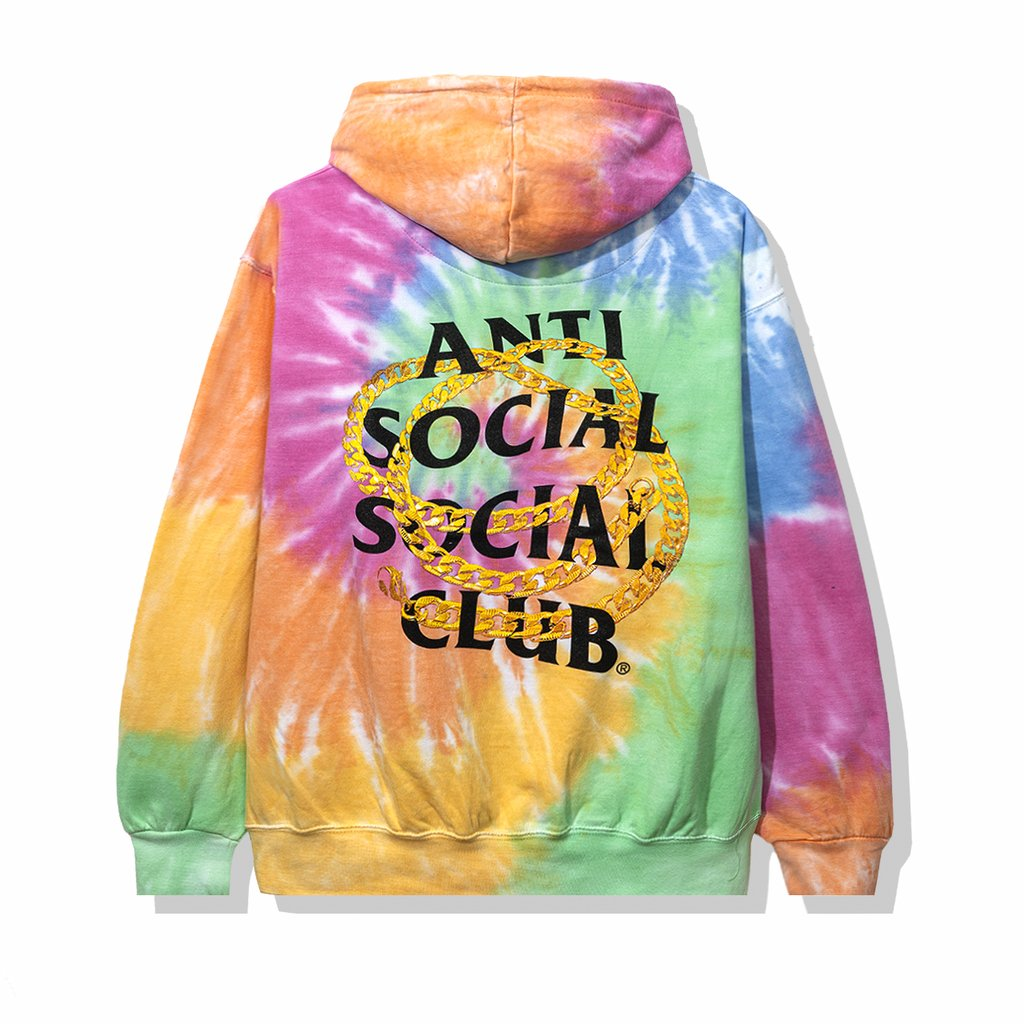 Anti Social Social Club Good Hoodie Rainbow Tie Dye