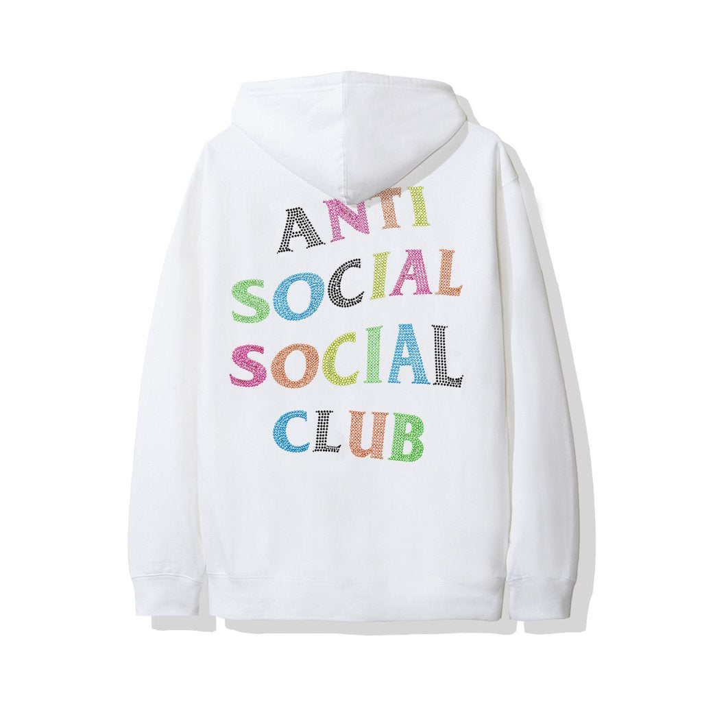 Anti Social Social Club Stud Belt Hoodie White