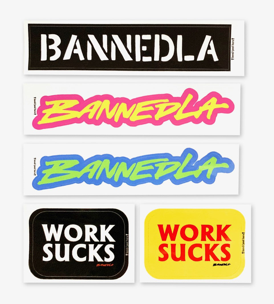 BannedLA Sticker Pack (5 Pack)