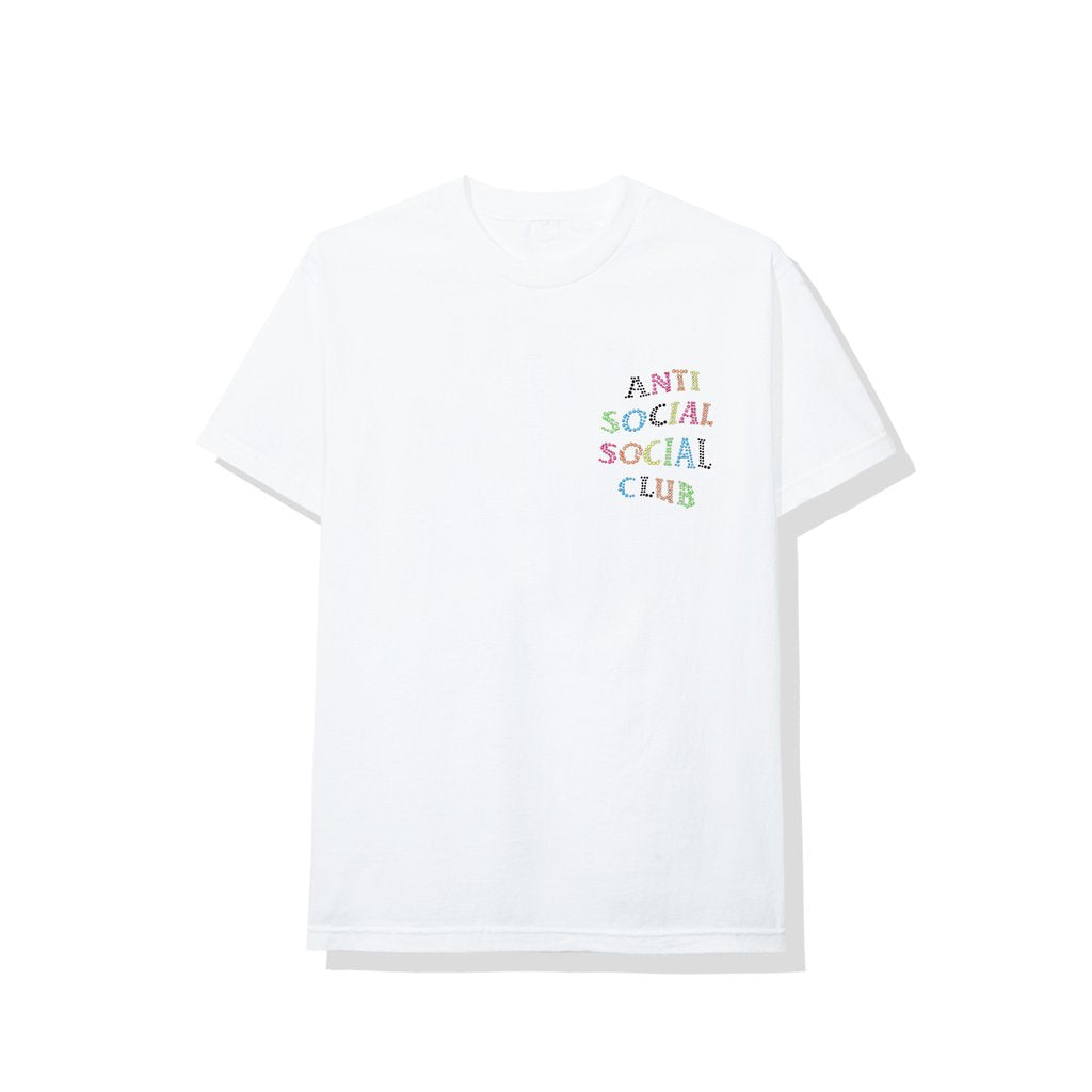 Anti Social Social Club Stud Belt Tee White
