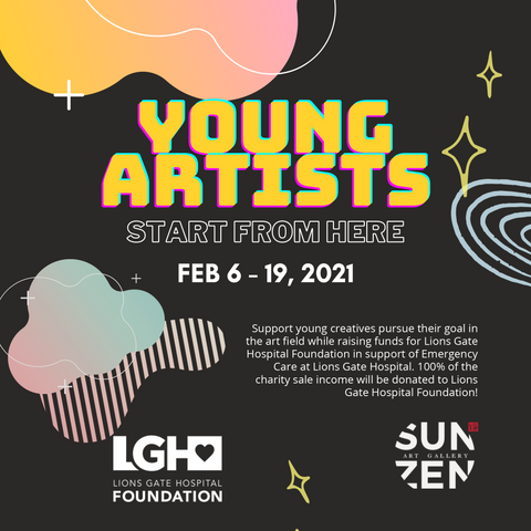 young artists charity exhibition