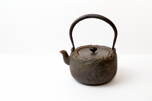 Iron Tea Kettle with Patterns of Bamboo Leaves【竹叶纹铁壶】