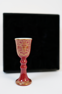 YUANHUA Gold Pattern Ceramic Goblet 【元华堂描金高足酒杯】