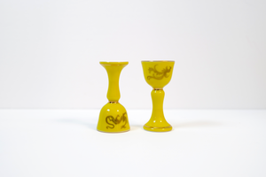 YUANHUA Dragon and Phoenix Shot Goblets 元华堂描金龙凤酒杯